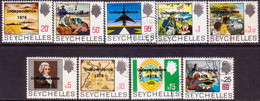 SEYCHELLES 1976 SG #374-82 Compl.set Used Independence Optd - Seychelles (1976-...)
