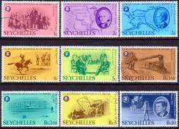 SEYCHELLES 1976 SG #383-91 Compl.set Used Bicentenary Of American Revolution - Seychelles (1976-...)