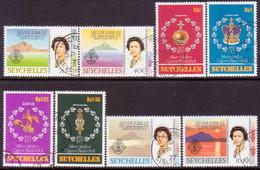 SEYCHELLES 1977 SG #393-401 Compl.set + M/s Used SilverJubilee - Seychelles (1976-...)