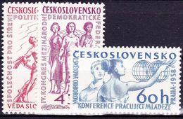 ** Tchécoslovaquie 1958 Mi 1078-80 (Yv 962-4), (MNH), - Unused Stamps