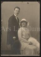 Large Photo / Photo Ancien / Foto / Elegant Couple / Couple élégant / Photographie / Wedding / Mariage - Personnes Identifiées