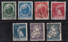 Pologne 1921 N° Y&T : 235 à 241 Obl. - 1919-1939 République