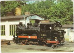 Schmalspurlok 99 4631 - Bahnhof Göhren (Rügen) - (D.D.R) - Stations - Met Treinen