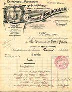 Entreprise De Couverture-plomberie Auguste BOURGOUIN, Rue C. Foucault, SEVRES, 1920 - Petits Métiers
