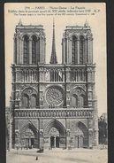! -  France - Paris - Notre-Dame - La Façade - Avec Timbres YT 158 Et 140 - Notre Dame De Paris