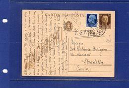 ##(YEL)-Italia 23-9-1943-  Cattolica - Cartolina Postale Vinceremo  Cent.30  Espresso Per   Pavia - 1900-44 Vittorio Emanuele III