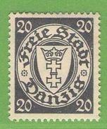 MiNr. 245 X (Falz)  Deutschland Freie Stadt Danzig - Danzig