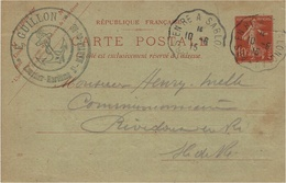 1915- C P E P 10 C De St Martin De Ré ( Char.Mar. )  Oblit. Conv. Ligne  ARS En RE A SABLANCEAUX - 1877-1920: Semi Modern Period