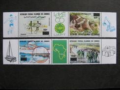 Comores: TB Paire Des Triptyques PA N° 279/281 Et PA N°282/4, Neufs XX. - Comores (1975-...)