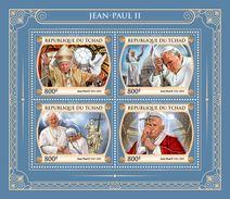 CHAD 2017 - Pope John Paul II, Mother Teresa. Official Issue. - Mother Teresa