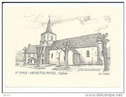 Encart Semi-cartonné - Verso Entièrement Vierge  / Eglise De Menetou Ratel  /  /  CP 8/838 - France