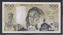 France 500 Francs Pascal - Neuf - 2-2-1989 - Fayette 71-40 - 500 F 1968-1993 ''Pascal''