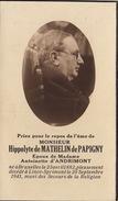 Hippolyte De Mathelin De Papigny Epoux D'Andrimont à Lincé Sprimont - Obituary Notices