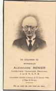 Alexandre Renier Agent à La SNCFB à Namur - Overlijden