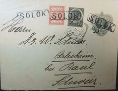 L) 1906 NETHERLANDS INDIES, QUEEN WILHELMINA ISSUE, 20 CENTS, 5 CENTS, CIRCULATED COVER FROM NETHERLANDS INDIES TO - Periode 1891-1948 (Wilhelmina)