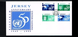 1995 - Great Britain-Jersey FDC - Organizations - VN/UNO - 50 Years [B01_027] - Jersey