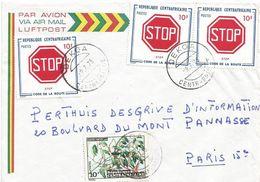 RCA CAR Centrafrique 1975 Dekoa Stop Traffic Garcinia Fruit Cover - Centraal-Afrikaanse Republiek