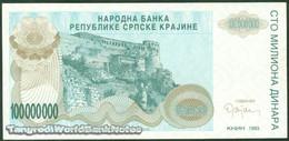 TWN - CROATIA R25a - 100000000 100.000.000 Dinara 1993 AXF - Croatie