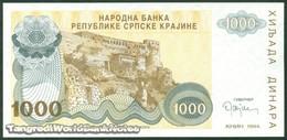 TWN - CROATIA R30a - 1000 1.000 Dinara 1994 Low Serial 000XXXX UNC - Croazia