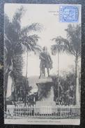 Maurice Port Louis Statue Labourdonnais Cpa Timbrée - Maurice