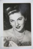 1950's Vintage Real Photo Postcard Cinema Movie Actress -  Joan Fontaine - Actors
