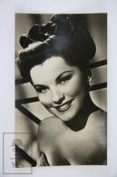 1950's Vintage Real Photo Postcard Cinema Movie Actress - Debra Paget - Attori