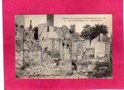 """51 Marne, Reims, Bombardements Guerre 1914-17, Rue Des Trois-Raisinets, L'""""Action Populaire"""", (G. Dubois), Militaria - Guerra 1914-18"""