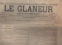 Sarlat (24 Dordogne) Journal  LE GLANEUR Du 2 Avril 1922 (PPP6375) - Kranten