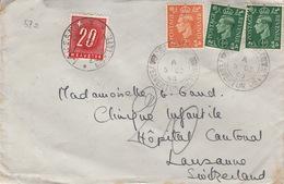 Taxed Letter From Switzerland / Crapstone1950 - Briefe U. Dokumente