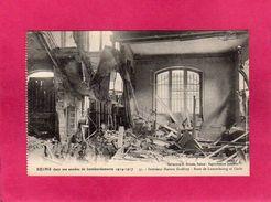 51 Marne, Reims, Bombardements Guerre 1914-17, Intérieur Maison Godfroy, Rues De Luxembourg Et C, (G. Dubois), Militaria - Guerra 1914-18