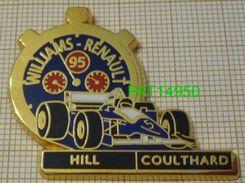 F1  WILLIAMS RENAULT  95   HILL  COULTHARD     Cartouche Noir Chrono Bleu & Rouge - F1