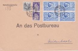 SUISSE 1938 LETTRE DE BREITENBACH - Suisse