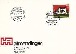 7.7.77-7 / Lettre Avec Oblitération Siebnen (Schwyz)  7.7.77.7! - Svizzera