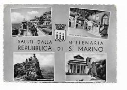 SALUTI DALLA MILLENARIA REPUBBLICA DI S.MARINO VEDUTE   VIAGGIATA FG - San Marino