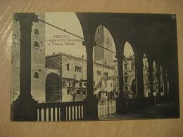 VERONA Loggia Di Fra Giocondo Piazza Dei Signori Dante Post Card VENETO Italy Italia - Verona