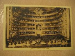 MILANO Milan Teatro Scala Theatre Post Card LOMBARDIA Italy Italia - Milano