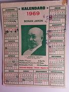 Calendrier Carte Postale Esperanto Zamenhof 1969 - Calendriers
