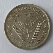 3 Pence -1943 - South Africa - Suid Afrika - Georges VI - Argent - - Afrique Du Sud