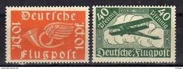 Deutsches Reich, 1919, Mi 111-112 **, Flugpost (Air Mail) [011017StkKV] - Allemagne