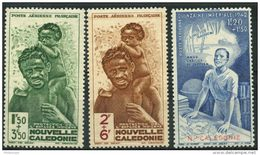 Nouvelle Caledonie (1942) PA N 36 à 38 * (charniere) - Luftpost