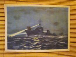 Propaganda, Marine Bilderdienst, AK Oberkommando Der Kriegsmarine, Nachtgefecht Deutscher Und Englischer Zerstörer ! - Weltkrieg 1939-45