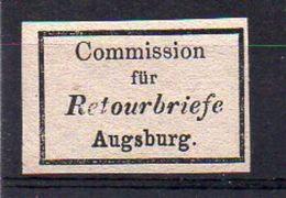 Bavière Retour N° 8 (Augsburg) Neuf * - Cote 15€ - Bayern (Baviera)