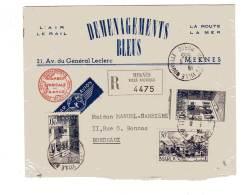 MAROC - LETTRE  Recommandée De Meknès 09/06/1955 Pour Bordeaux - Marokko (1891-1956)