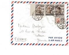 ZANZIBAR - LETTRE Du 25/05/1963 Pour La France - Zanzibar (1963-1968)