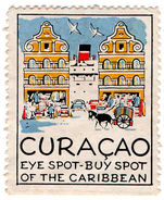 (I.B) Netherlands Antilles (Curacao) Cinderella : Eye Spot - Buy Spot - Stamps
