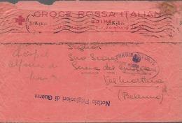 Ww2 1943 Prigionieri Di Guerra - Italia - Croce Rossa Udine - Da Udine Per Seren Del Grappa - Prigione E Prigionieri