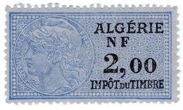 (I.B) France Colonial Revenue : Algeria Duty 2Fr - Europe (Other)