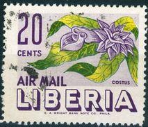 LIBERIA, POSTA AEREA, AIRMALIL, FLORA FIORI, FLOWERS, 1955, FRANCOBOLLI USATI  Yvert Tellier PA89 Scott C91 - Liberia