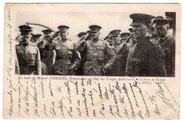 Militaria-Juin 1917- Le Salut Du Général PERSHING, Commandant En Chef Des Troupes Américaines, à La Terre De France- - War 1914-18
