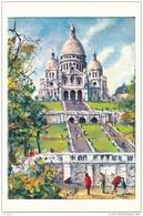 Le Sacré-Coeur - Peinture De Pedro Vargas - Editions Krisarts - Sacré-Coeur